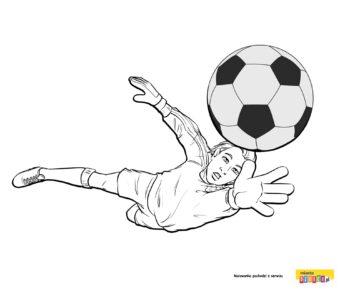Kolorowanka - Piłkarz
