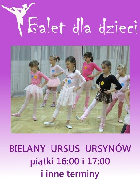 Balet dla dzieci w wieku 3,5  8 lat.