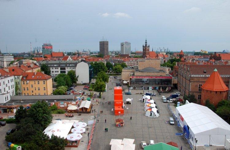 Gdańsk z Wieży Więziennej
