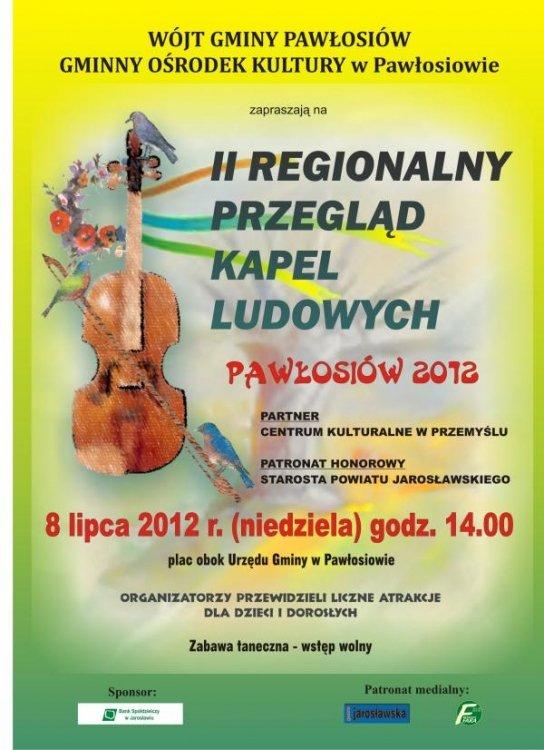 II Regionalny Przegląd Kapel Ludowych w Pawłosiowie