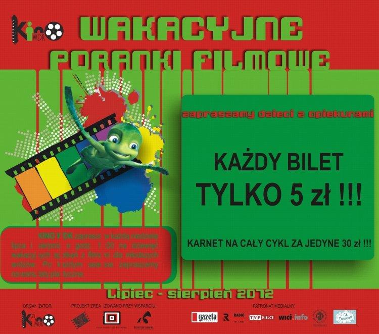 Filmowy poranek dla dzieci – Kielce