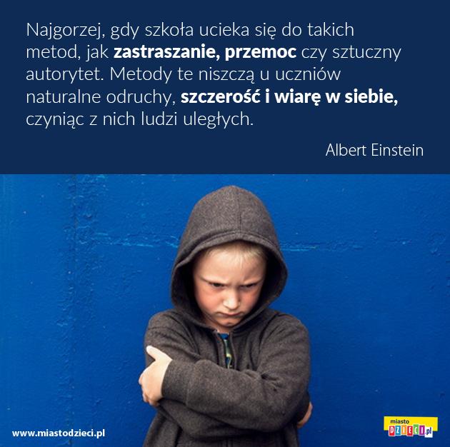 Einstein najlepsze cytaty o szkole