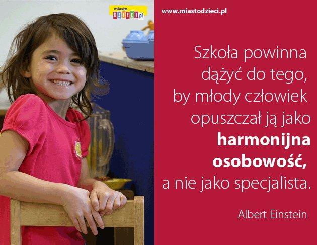 Złote myśli Alberta Einsteina o szkole