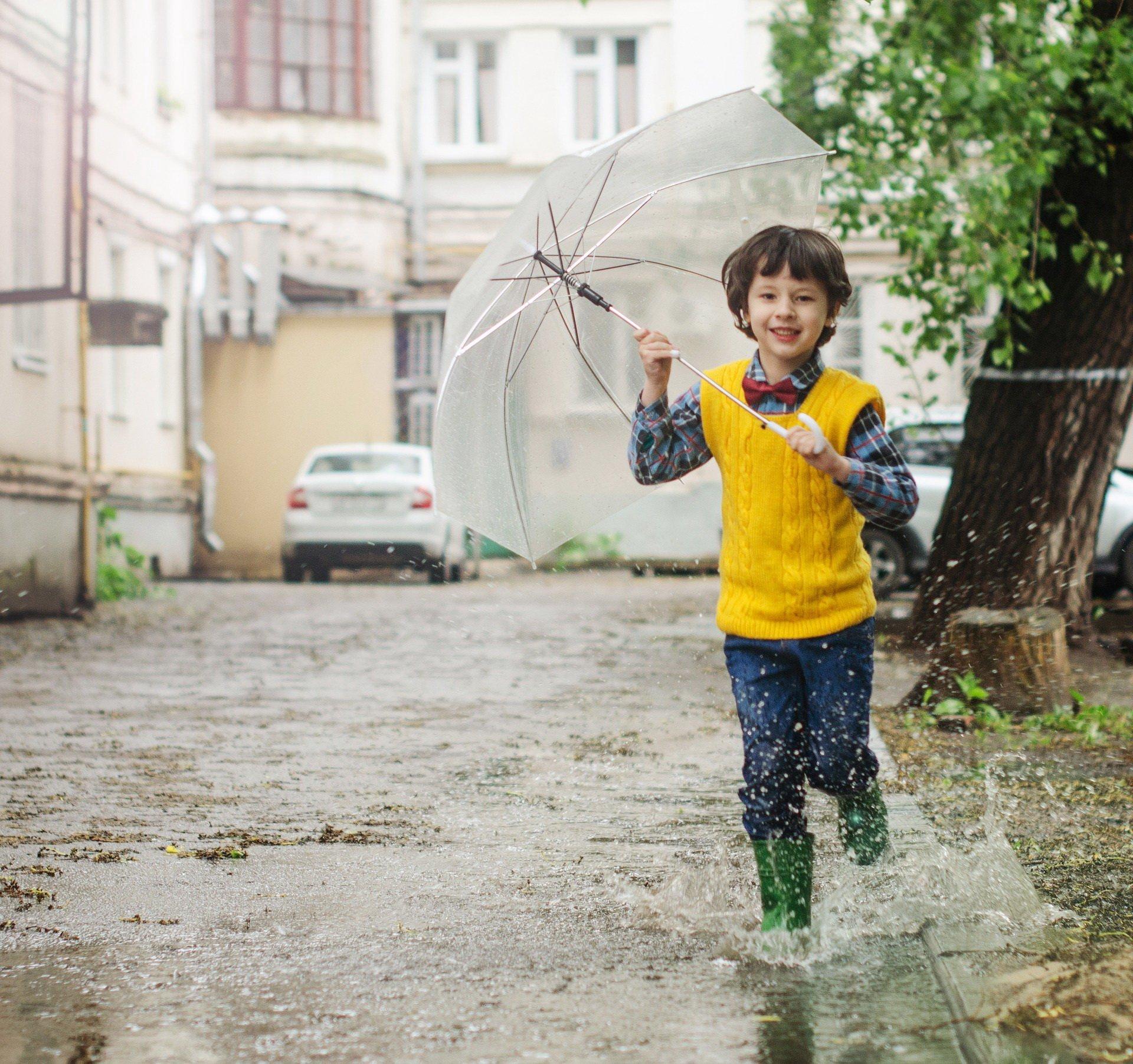 Pada deszcz, wierszyk dla dzieci o pogodzie