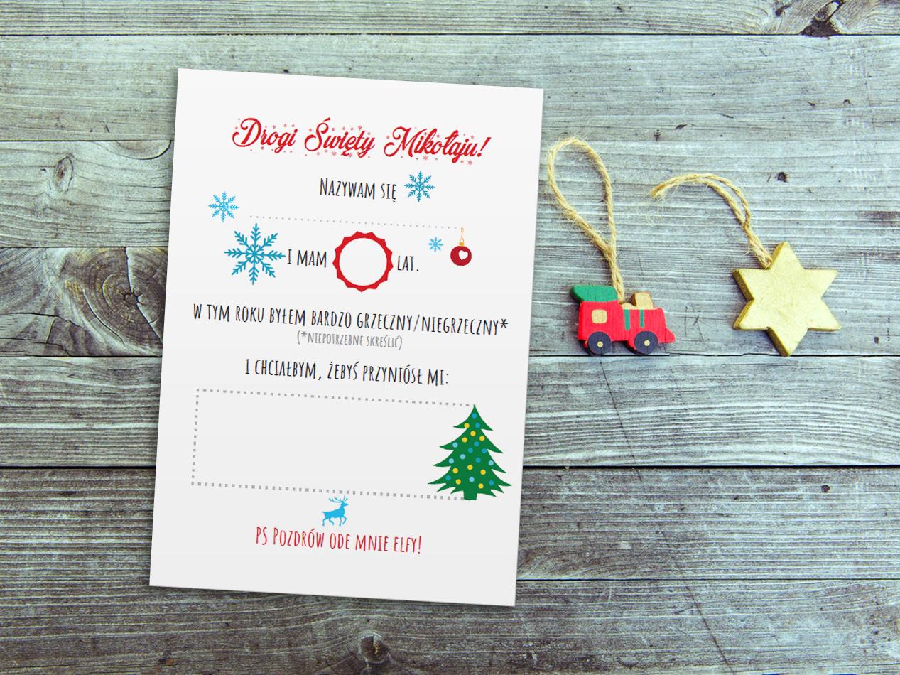 List do Świętego Mikołaja – darmowe wzory do druku!