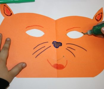 maski karnawałowe kot mysz zabawa