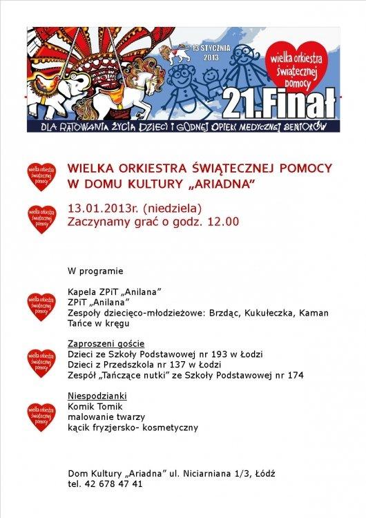 Wielka Orkiestra w Ariadnie