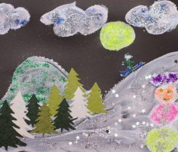 Zimowe pejzaże – malowanie pastą do zębów
