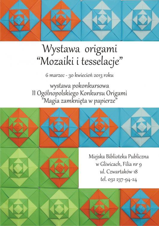 Wystawa origami Mozaiki i tesselacje