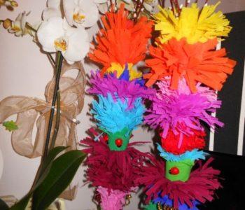 Wielkanocne palemki z bibuły