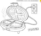 Kolorowanka toster