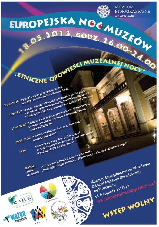 Noc Muzeów 2013 w Muzeum Etnograficznym