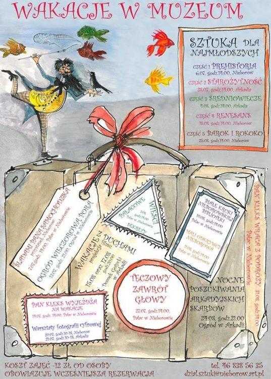 Wakacyjne wydarzenia edukacyjne w Muzeum w Nieborowie i Arkadii