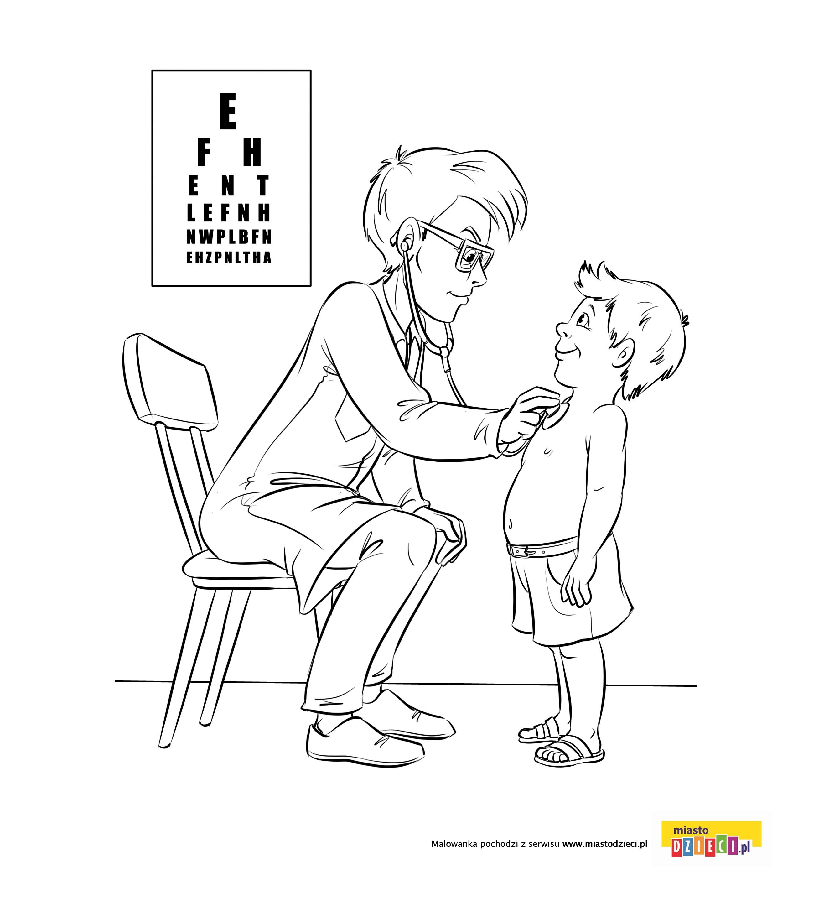 Lekarz kolorowanka