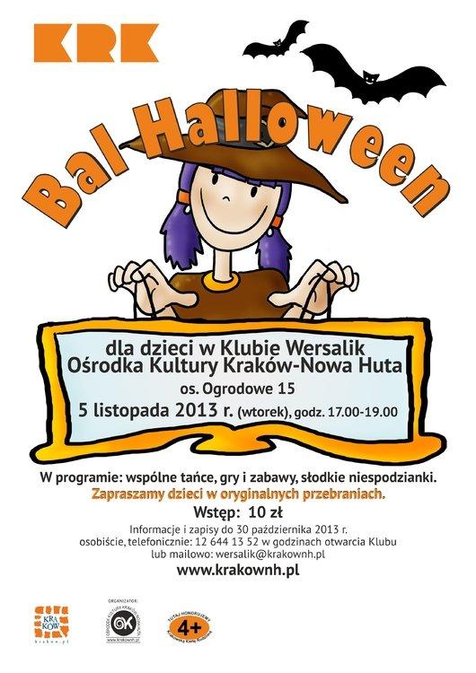 Bal halloween dla dzieci