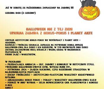 Halloween nie z tej ziemi plakat