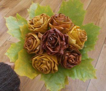 Bukiet jesienny – kwiaty z jesiennych liści
