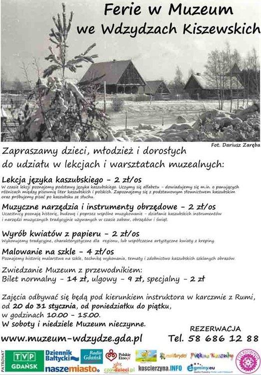 Ferie w Muzeum we Wdzydzach Kiszewskich