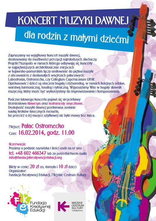 Koncert muzyki dawnej w  Pałacu Ostromecko – Bydgoszcz