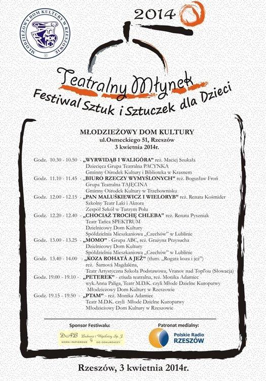 II Ogólnopolski Festiwal Sztuk i Sztuczek dla Dzieci Teatralny Młynek – Rzeszów