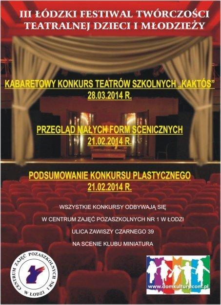 III Łódzki Festiwal Twórczości Teatralnej Dzieci i Młodzieży