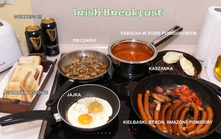 Tradycyjne irlandzkie śniadanie
