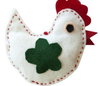 Wielkanocny kurczaczek – kogucik z filcu