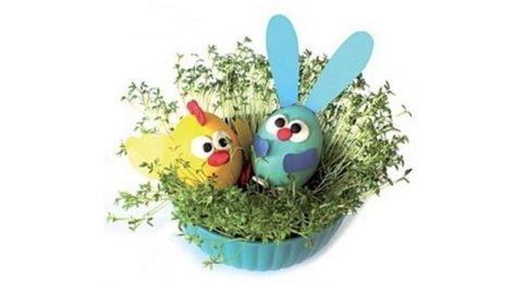 koszyczek z zajączkiem i kurczaczkiem