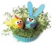 Wielkanocny stroik. OZdoby wielkanocne dla dzieci. Jak zrobić króliczka