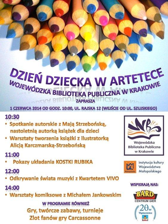 Dzień Dziecka w Artetece WBP w Krakowie
