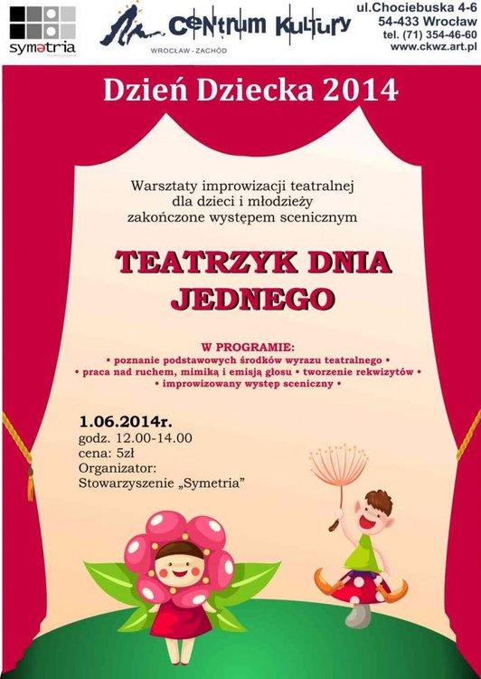 Teatrzyk Dnia Jednego na Dzień Dziecka