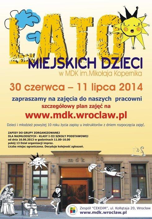 Lato Miejskich Dzieci w Centrum Edukacji Kulturalnej Dzieci i Młodzieży
