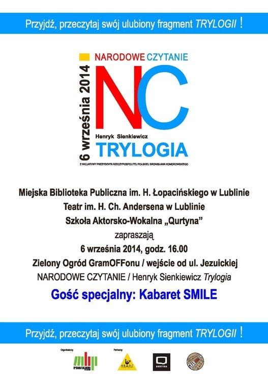 Narodowe  Czytanie Trylogii Henryka Sienkiewicza – Lublin