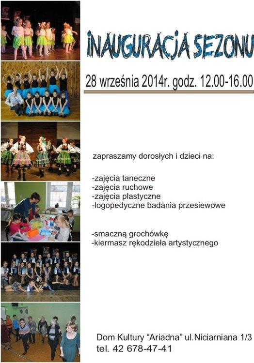 """Inauguracja sezonu w Domu Kultury """"Ariadna"""""""