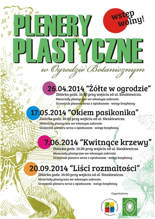 Plenery plastyczne w Ogrodzie Botanicznym
