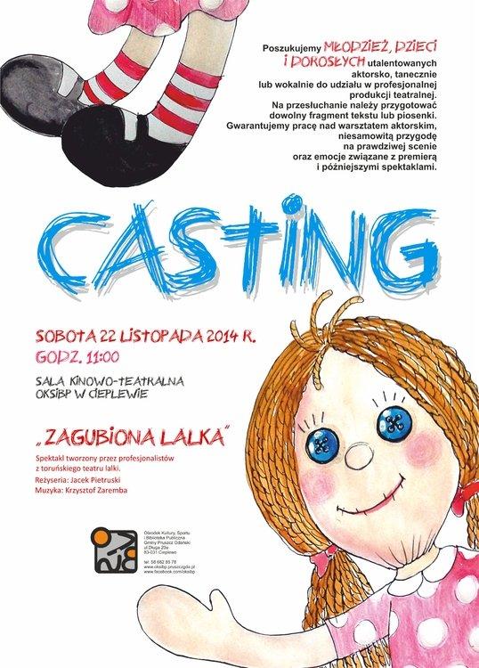 Casting do spektaklu w OKSiR Cieplewo