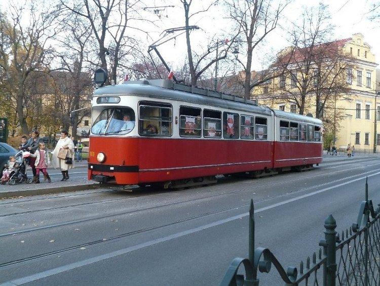 Tramwaj patriotyczny na ulicach Krakowa