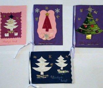 Bożonarodzeniowe kartki własnoręcznie robione