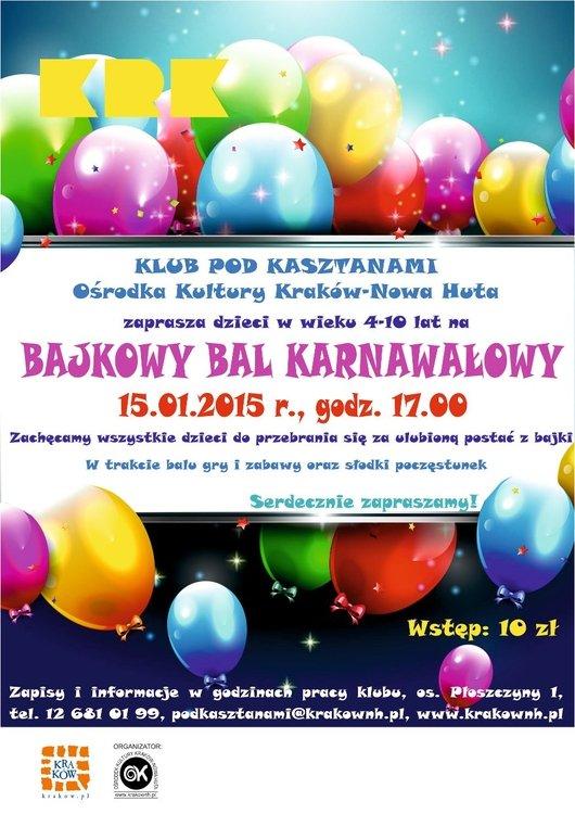 Bajkowy bal karnawałowy dla dzieci
