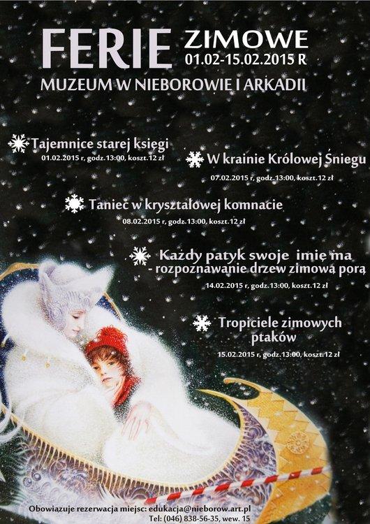 Ferie zimowe w Muzeum w Nieborowie
