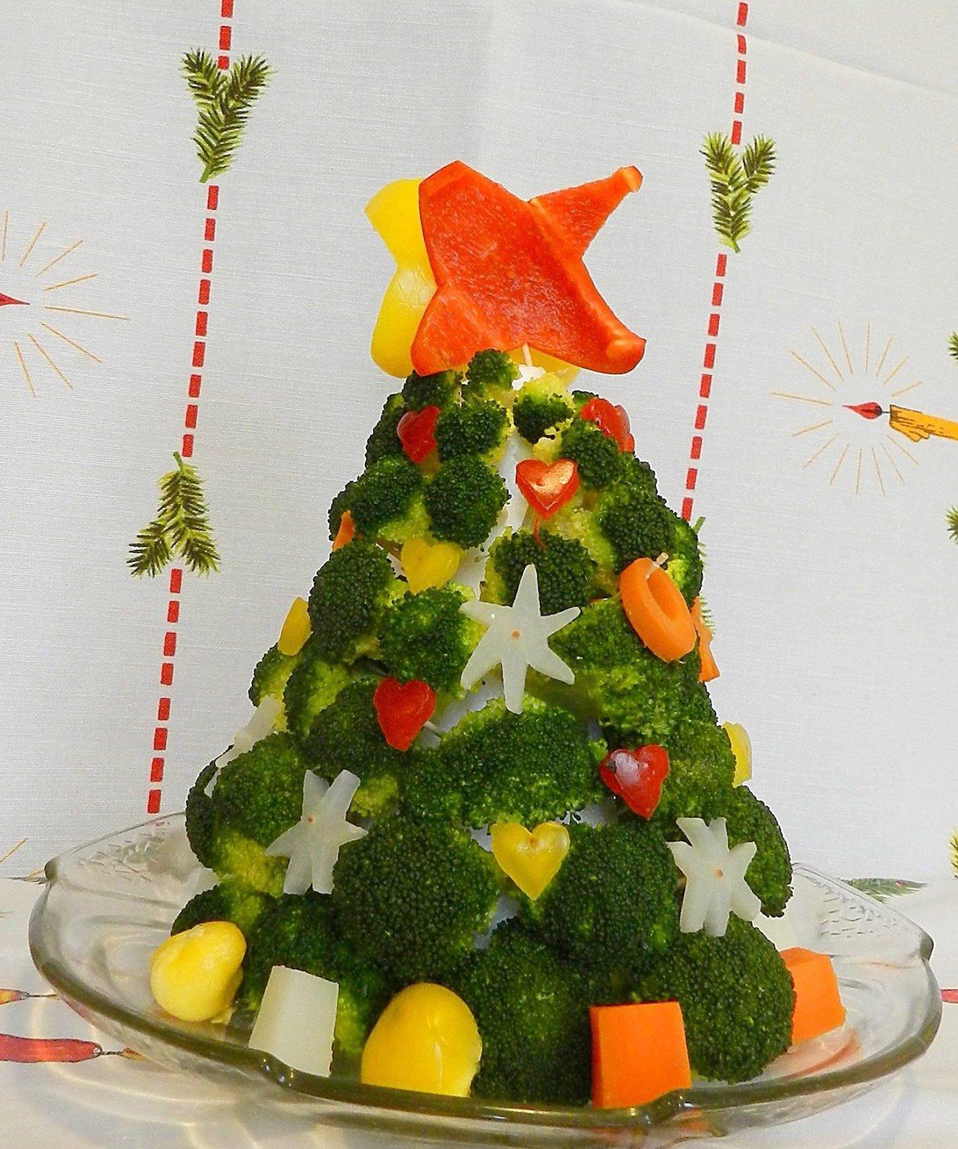 przepis na choinkę z brokułów
