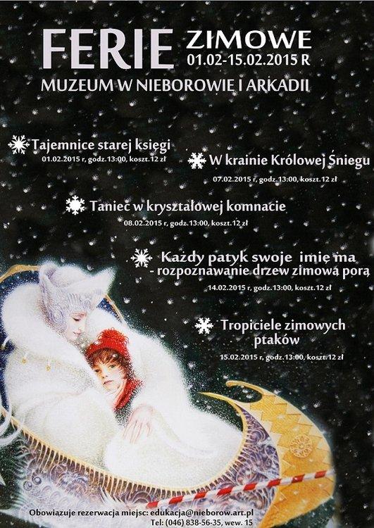 Ferie zimowe w Muzeum w Nieborowie i Arkadii