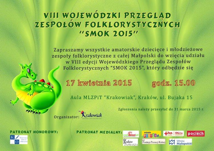 VIII Wojewódzki Przegląd Zespołów Folklorystycznych Smok 2015