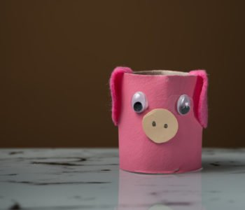 Świnka z rolki po papierze