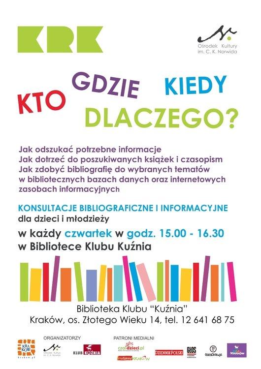 Kto, gdzie, kiedy, dlaczego? Konsultacje bibliograficzne dla dzieci i młodzieży w marcu