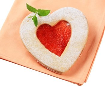 Ciasteczka – serduszka z dżemem w środku