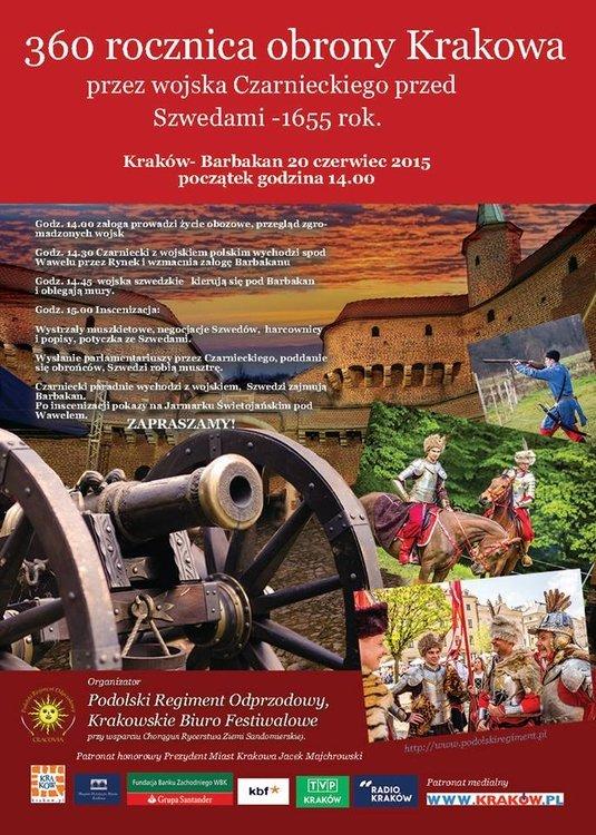 360. rocznica obrony Krakowa przez wojska Czarnieckiego przed Szwedami