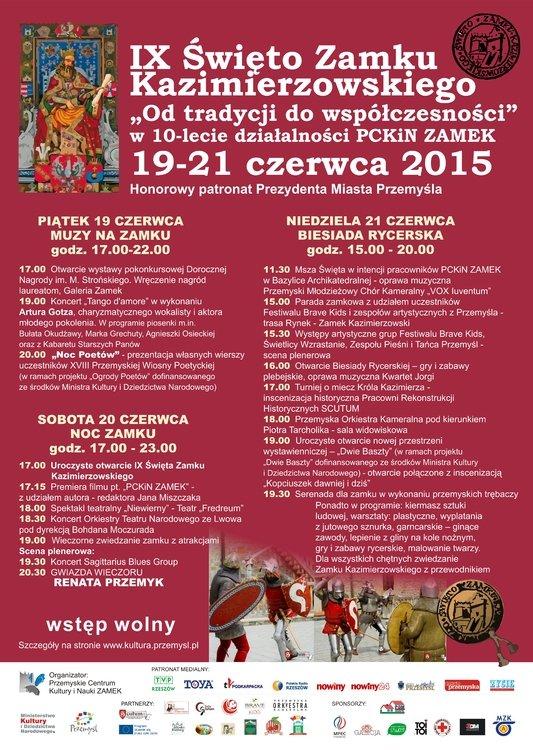 Kalendarz imprez PCKiN ZAMEK – Przemyśl