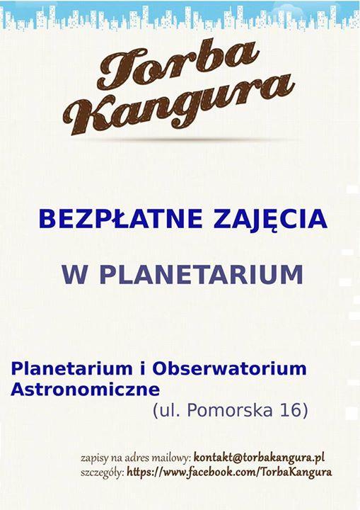 Bezpłatne zajęcia dla dzieci w Planetarium