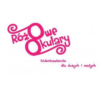 różowe okulary logo